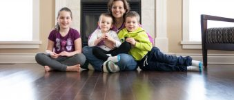 Jillian O'Connor with her children