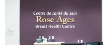 Rose Ages signage on wall of hospital