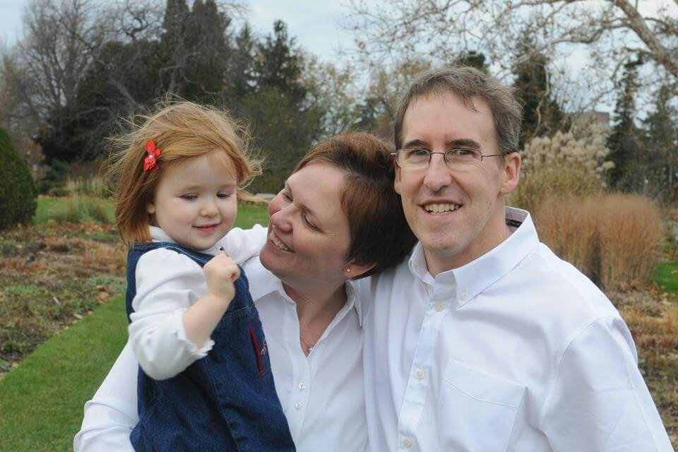 John Chafe with his daughter Mary and wife Patricia