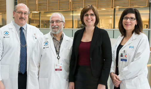 Dr. Freedman, Dr. Atkins, Jennifer Molson and nurse