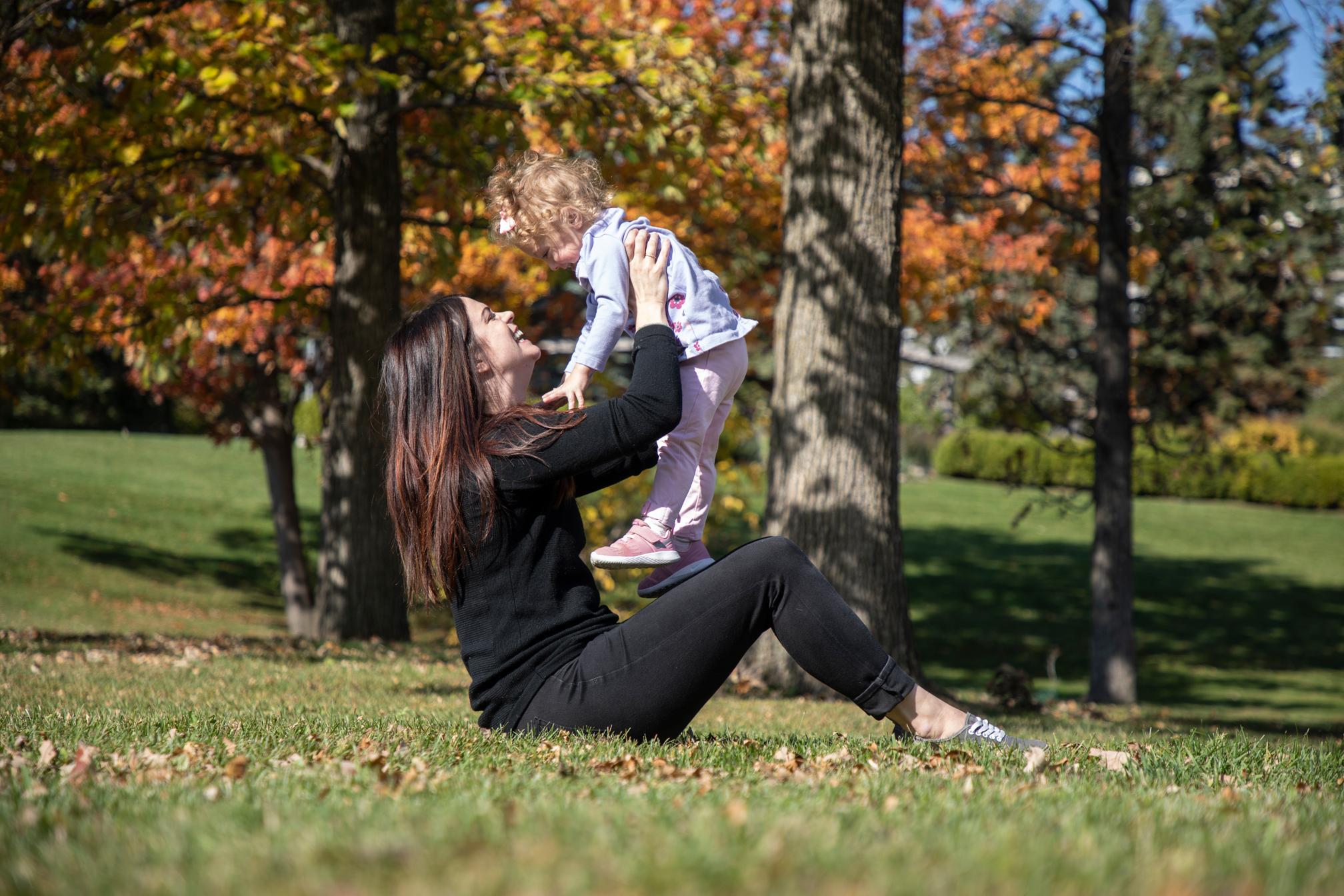 Jamie Eberts with her daughter, Olivia