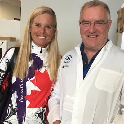 Sindy with Dr. John Bell at The Ottawa Hospital