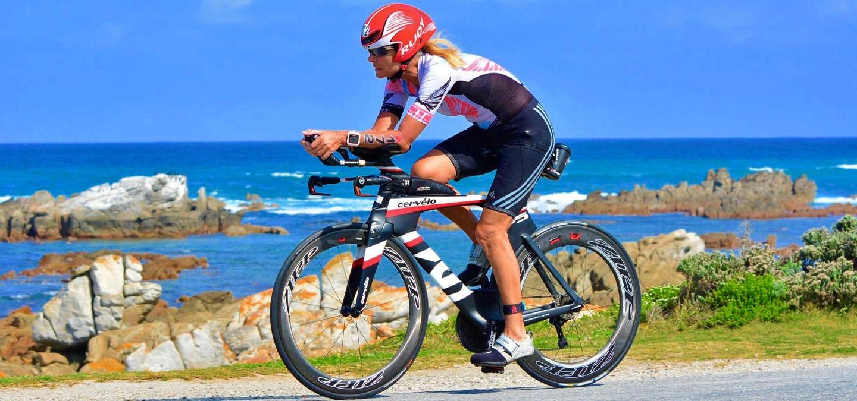 Sindy Hooper on her bike