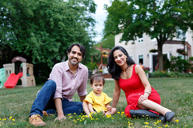 Bushra Saeed and her family