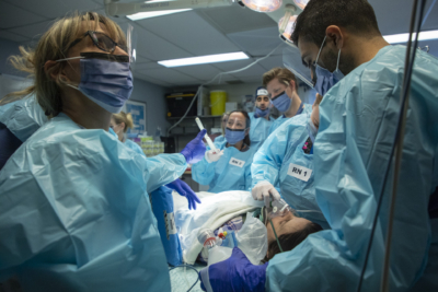 Trauma team during a training session at The Ottawa Hospital