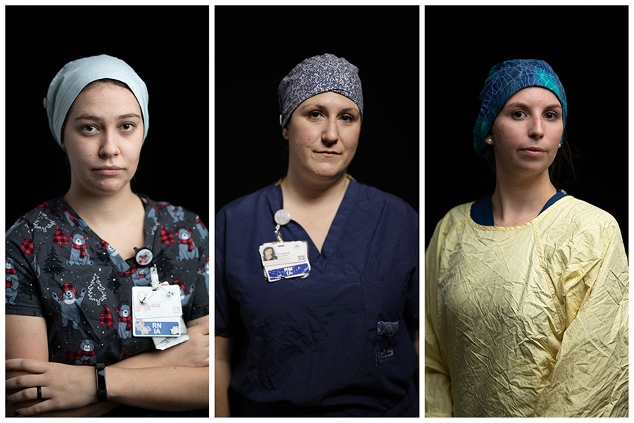 Vanessa Large, Kristine Belmore, and Leah Mills